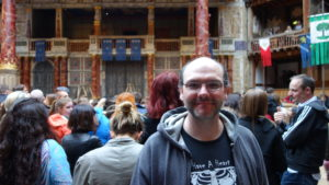 Me at the Globe Theater in London